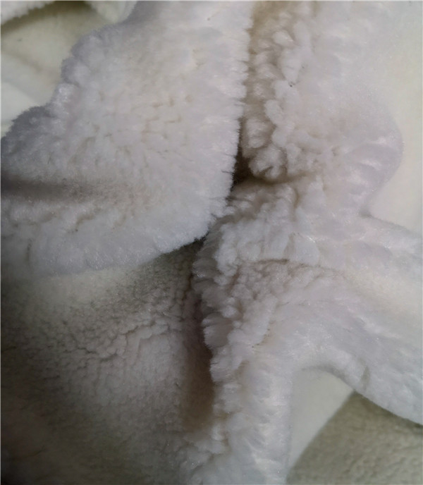 Lambswool sherpa fake fur
