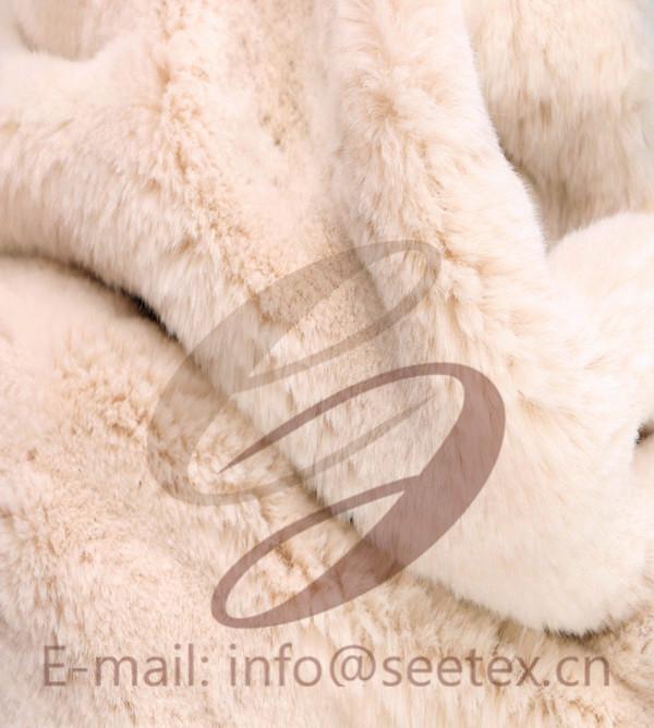 100% POLYESTER cony hair/rabbit faux fur/fake fur