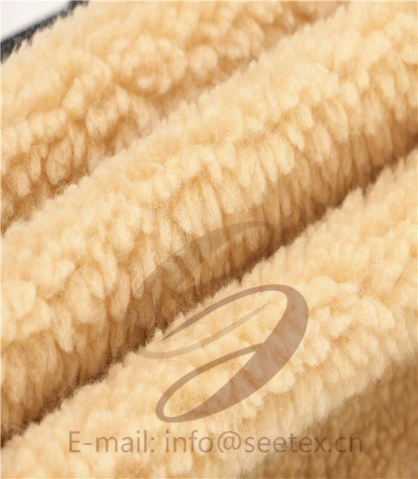 sherpa fleece faux fur/ fake fur