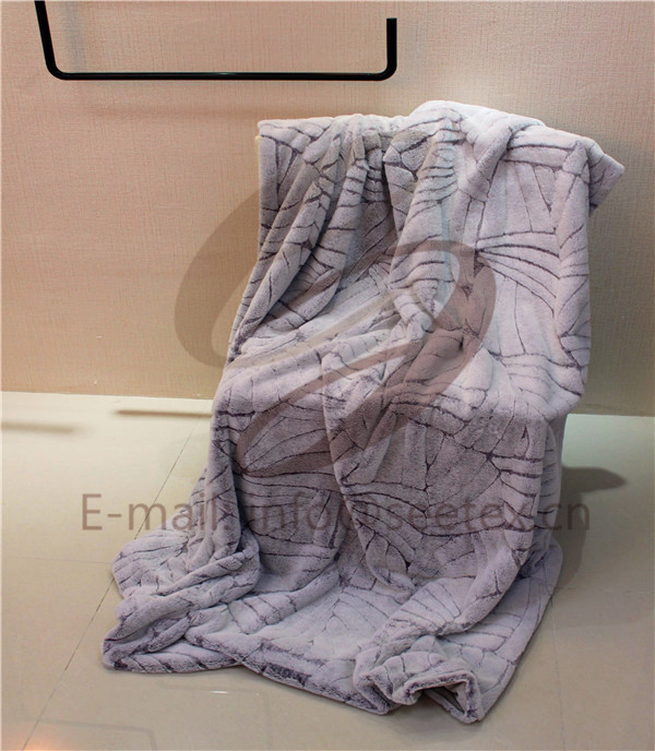 Soft polyester short pile blanket