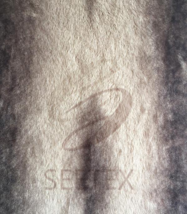 Chinchilla design fleece/faux fur