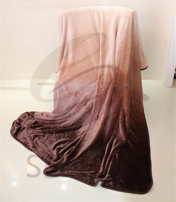 ombre design supper soft flannel blanket