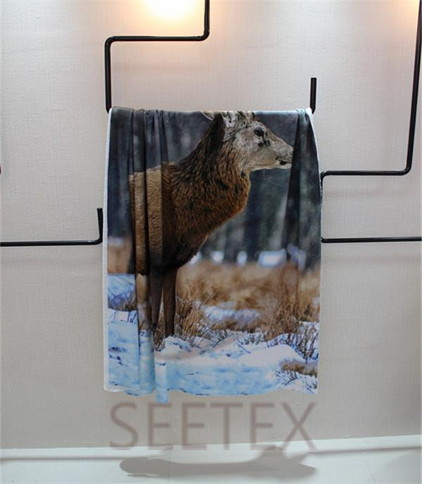 animal printing design flannel blanket