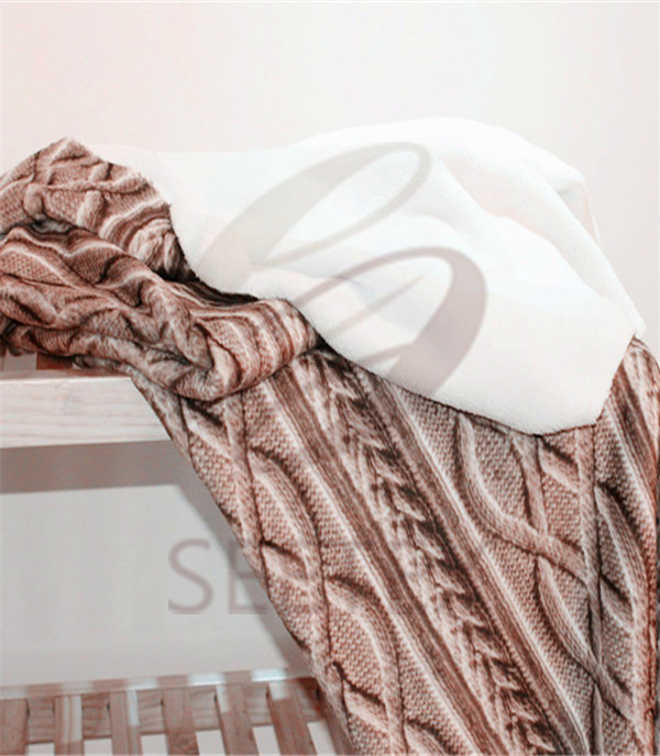 woven printing design polyester blanket