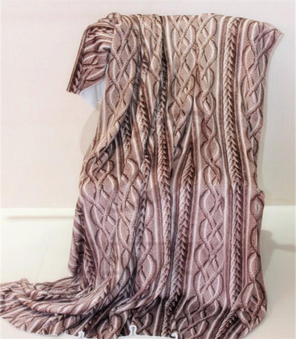 woven printing design polyester blanket