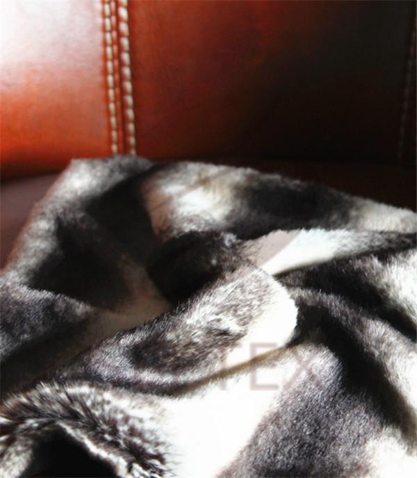 Black and white chinchilla design cushion cover
