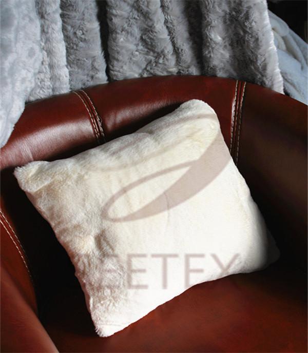 Rabbit faux fur supper soft pillow