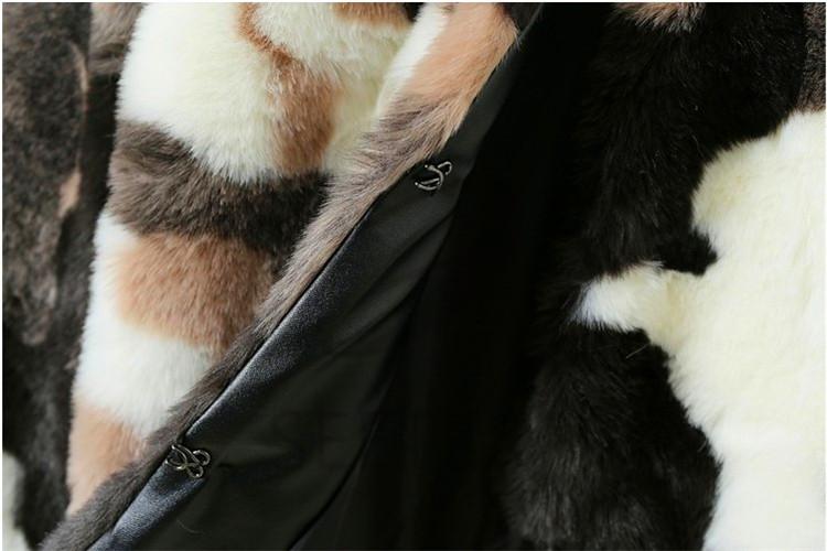 plum blossom printed rabbit faux fur/fake fur