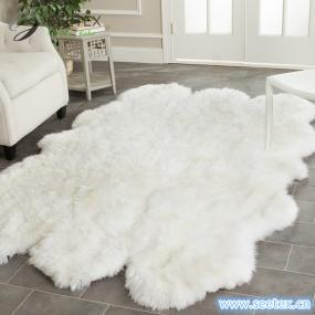 How to clean the faux fur rugs?