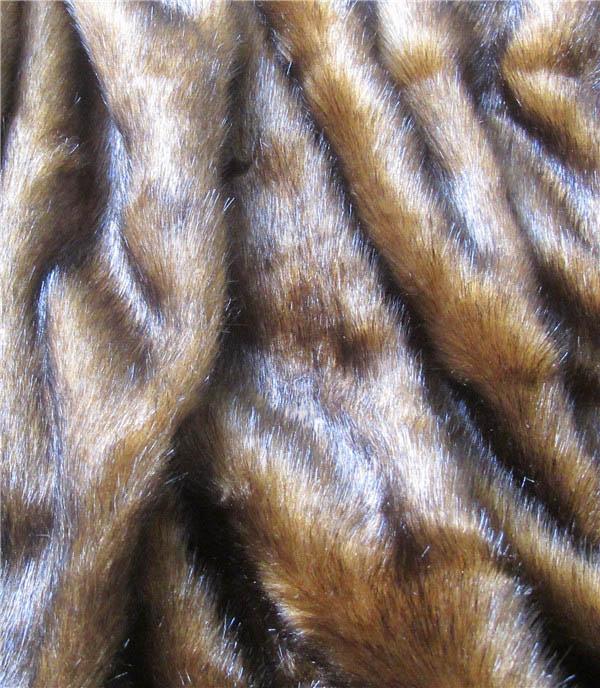 Luxury steel brown mink faux fur fabric