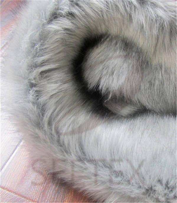Grey Fox Faux Fur
