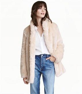 Some popular faux fur coats