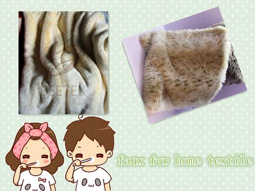 faux fur home textile